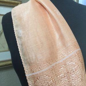 Silk Scarf Peach Color